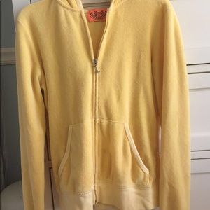 Juicy couture yellow sweatsuit jacket
